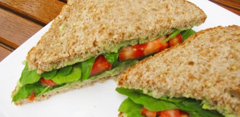 Avocado Hummus & Tomato Sandwich