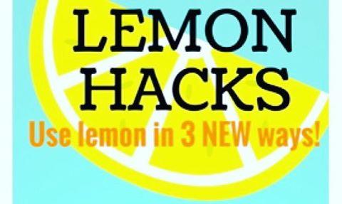 LEMON HACKS in tomorrows WOW eblast! Pucker Up!