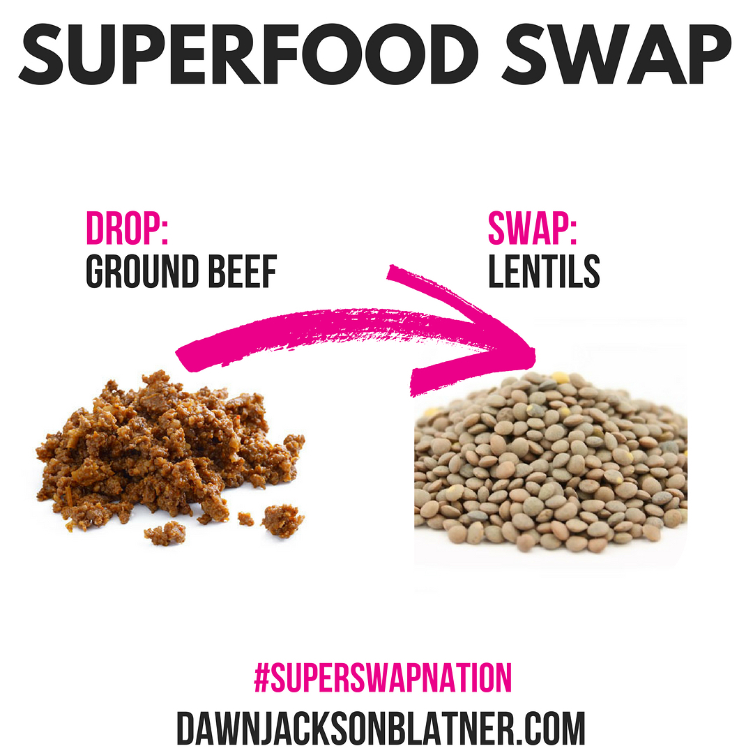 Sunday Superfood Swap Plant protein power! Swap out half orhellip