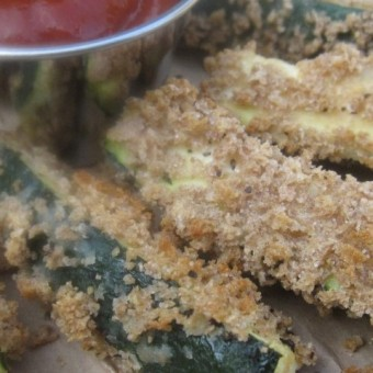 Beer-Battered Zucchini with Spicy Ketchup