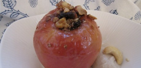 Baked Apple with Cashew Cream