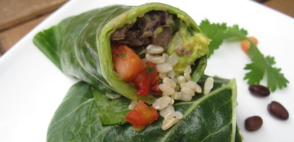 Collard Green Burrito