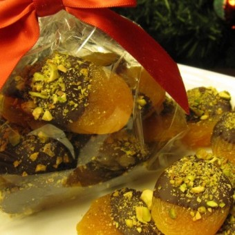 Nutty Dipped Apricots