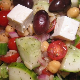 Greek Salad with Orzo & Feta