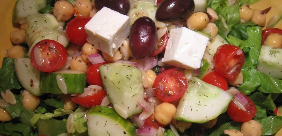 Greek Salad with Orzo & Feta