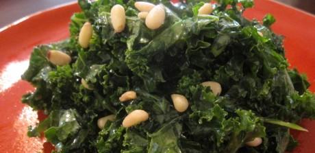 Raw Honey Mustard Kale Salad