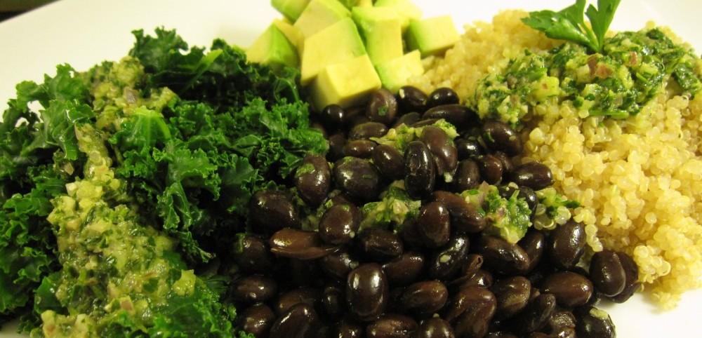 Quinoa, Beans & Greens w/Chimichurri Sauce