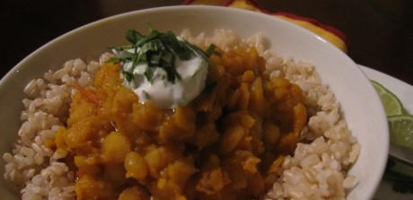 Yellow Dahl with Brown Rice