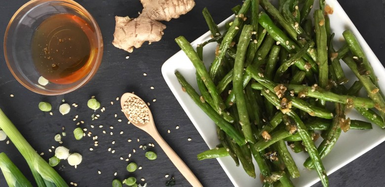 Sticky Sesame Green Beans