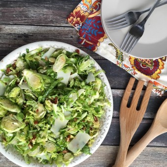 Simple Brussels Sprout Slaw