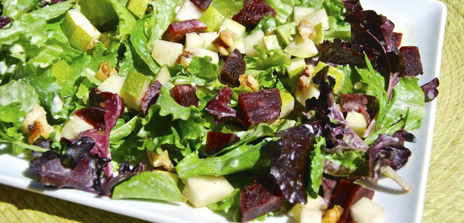 Beet Salad with Citrus Goat Cheese
