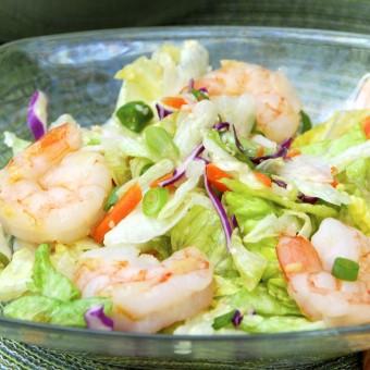 Grilled Shrimp Salad with Green Tea Citrus Dressing