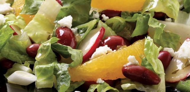 DOLE Romaine Salad with Orange Feta & Beans