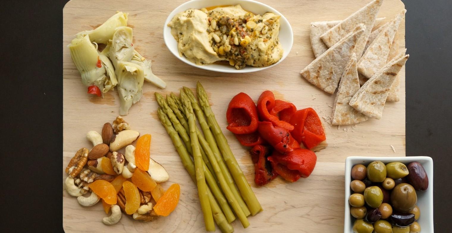 Vegan Mediterranean Snack Board