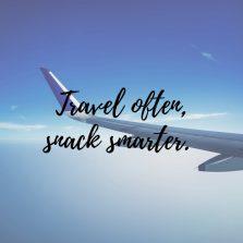 Savvy travel snacks.