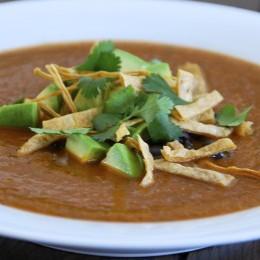 Vegan tortilla soup.