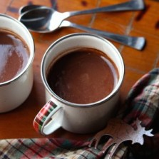 Date spiced hot cocoa.