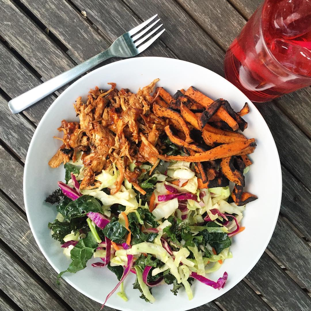 Alfresco dinner from the grill tonight BBQ Pulled Chicken Sweethellip