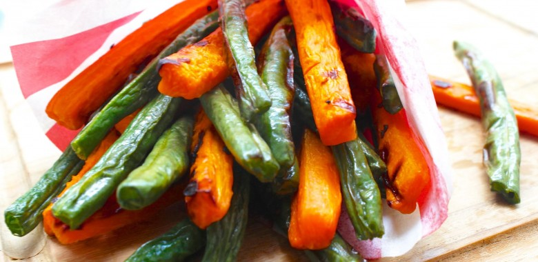 "Green Bean & Carrot ""Fries"""