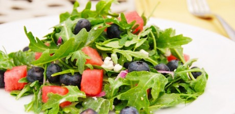 Blue Watermelon Feta Salad