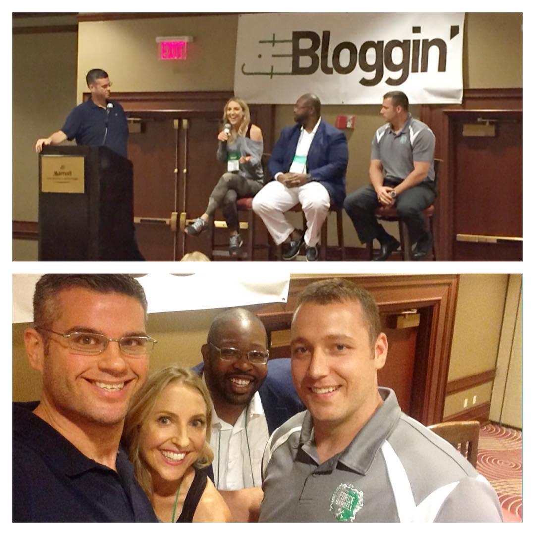 Sharing the fitbloggin stage w inspiring panelists 300poundsandrunning amp forcebarbellhellip