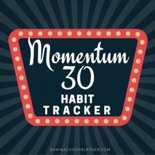Momentum 30 Habit Tracker