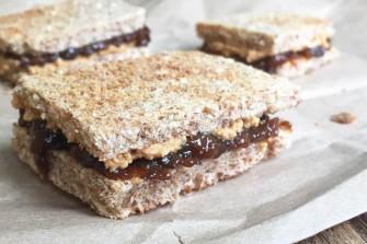 Peanut Butter & Prune Jam Sandwich
