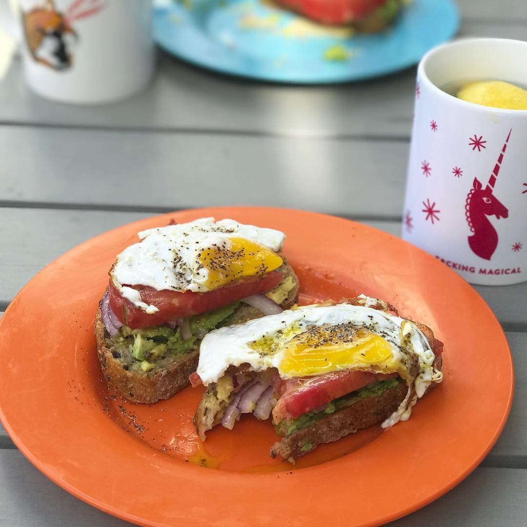 Dear avocado toast I heart you Perfect SunYAY postrun breakfast