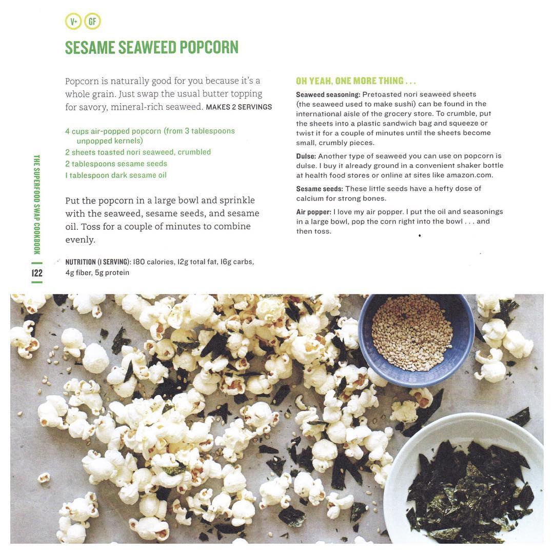 HAPPY NATIONAL POPCORN DAY! Try out this SuperSwapped Sesame Seaweedhellip