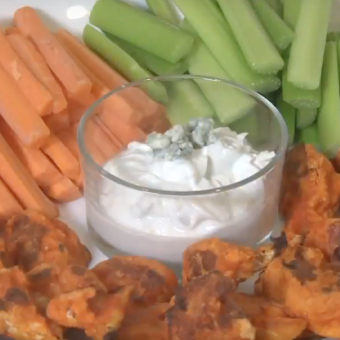 Buffalo Cauliflower Poppers