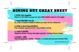 Dining Out Cheat Sheet
