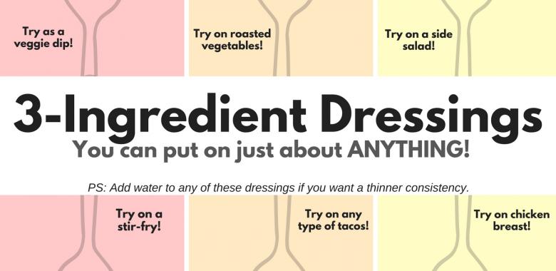 3-Ingredient Dressings