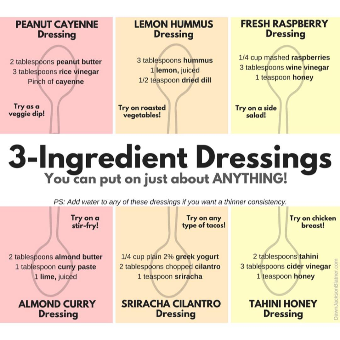 NutritionWOW 3INGREDIENT DRESSINGS Ok fine Summer is officially over buthellip