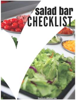 Salad Bar Checklist