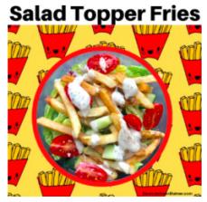 Salad Topper Fries