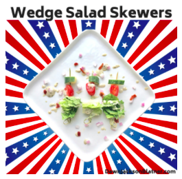 Wedge Salad Skewers