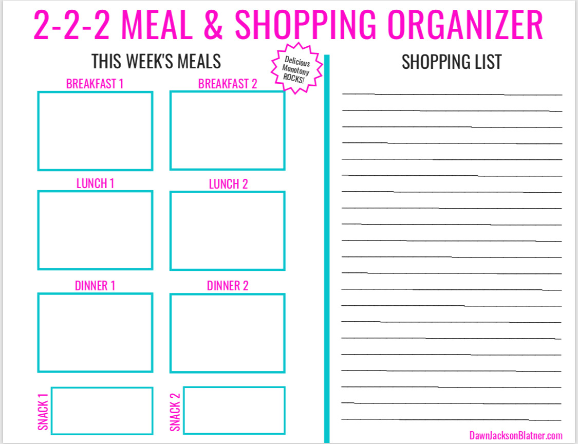 2-2-2 Meal & Shopping Organizer