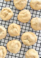3-Ingredient Tahini Maple Cookies