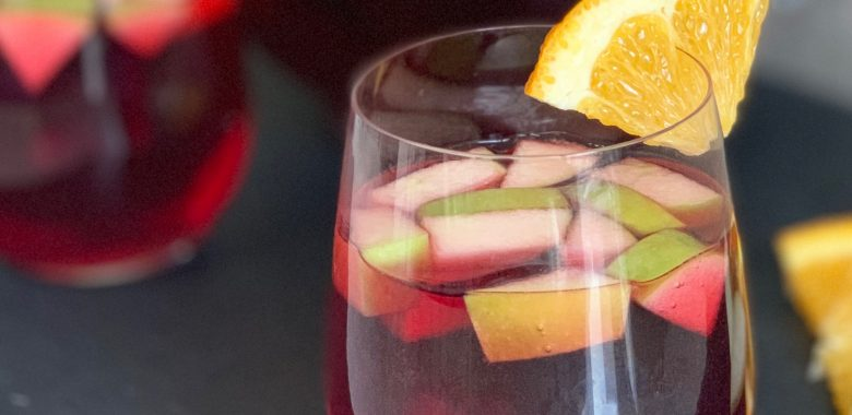 "Hibiscus Sangria ""Mocktail"""