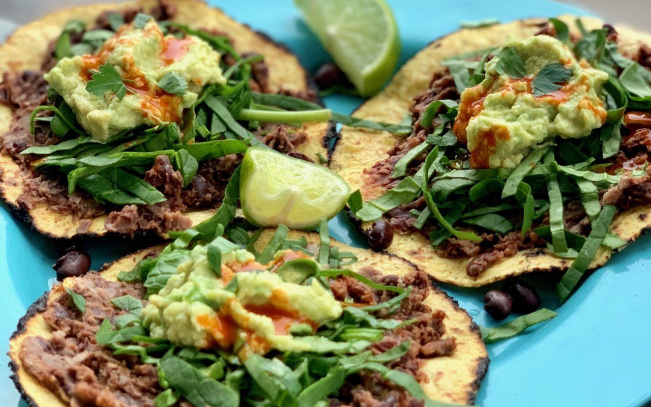 Guac and Greens Tacos