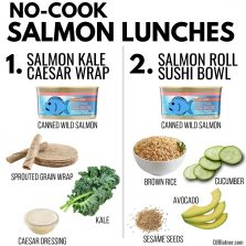 2 No Cook Salmon Lunches