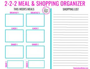 2-2-2 Meal & Shopping Organizer