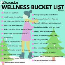 December Wellness Bucket List